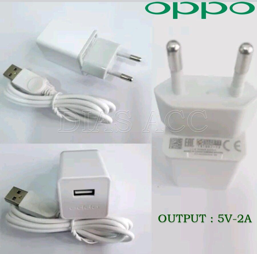 OPPO Charger Fast 5V-2A Micro USB For Oppo F1 Plus Original - Putih