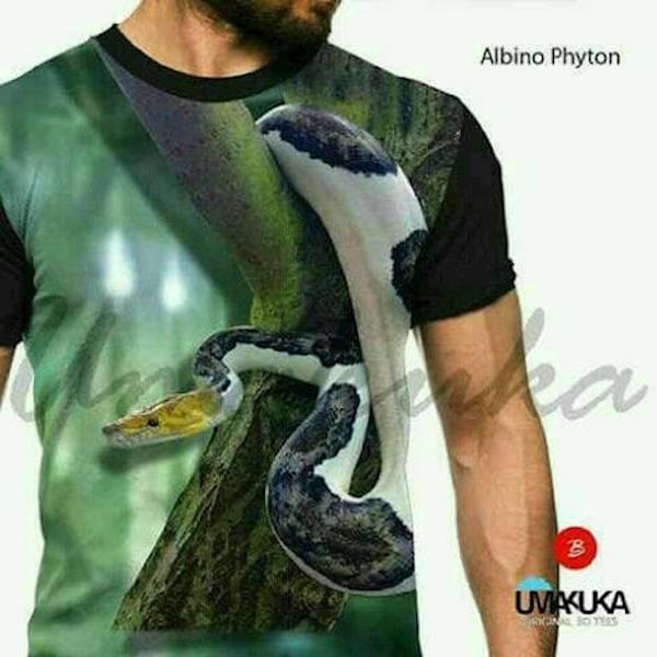Kaos Full Print Umakuka - Albino Phyton