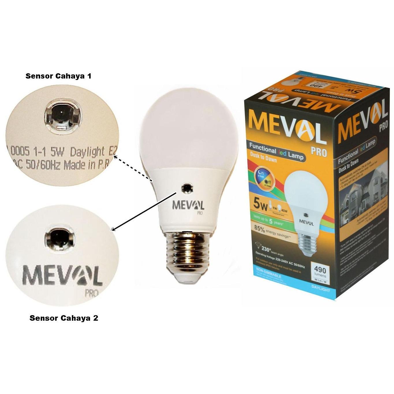 Perlu Meval Lampu Led Bulb Sensor Cahaya 5 Wat Putih Dijual Bohlam Ajaib 21watt Emergency