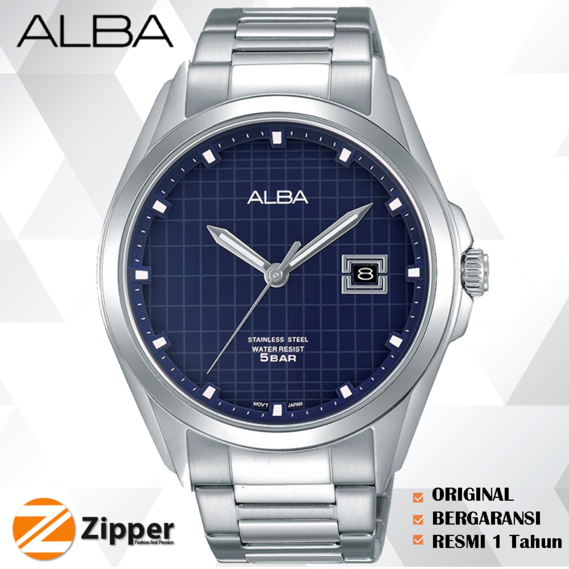 ALBA Pretige Jam Tangan Pria Tali Kulit / Stainless Steel Quartz Movement AS9C Series