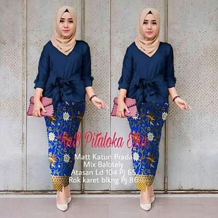 Debbie Gallery Stelan Kebaya Pitaloka / kebaya wisuda modern/kebaya modern/kebaya batik - MAROON / Kebaya Modern / Gamis / Gaun Pesta Muslimah / Baju Muslim Wanita / Srdeva