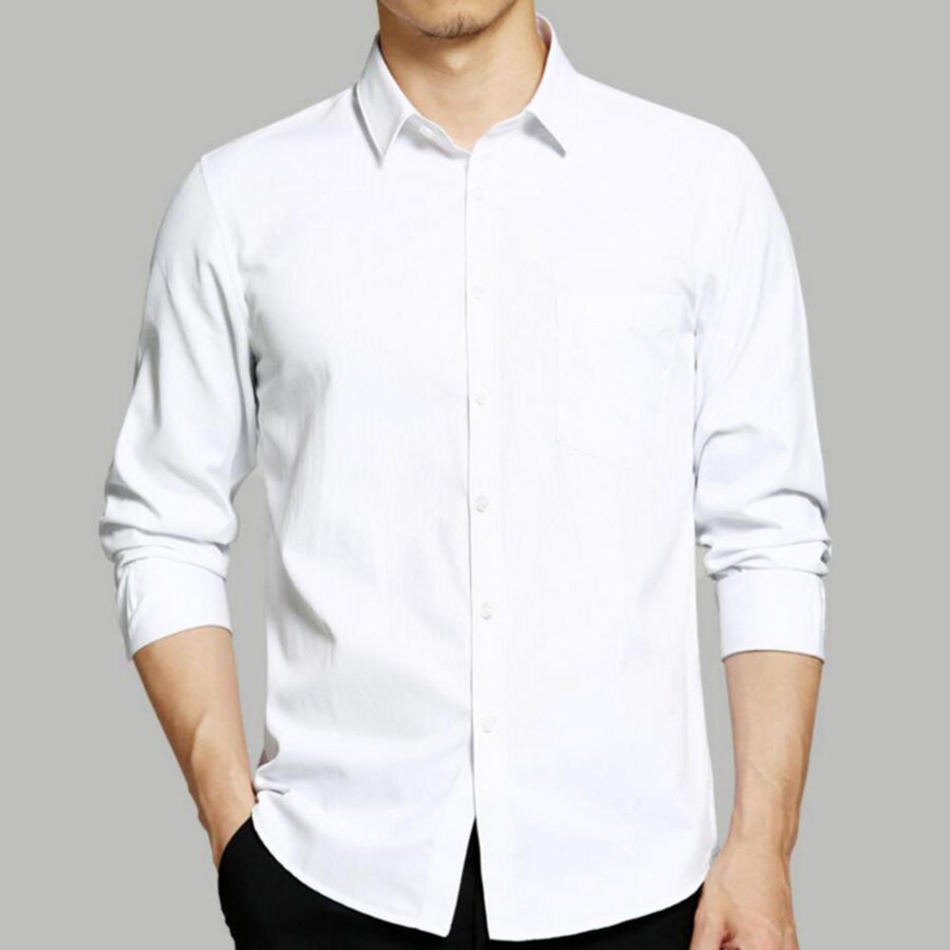 Mejikuu Kemeja Formal Putih Panjang -Putih