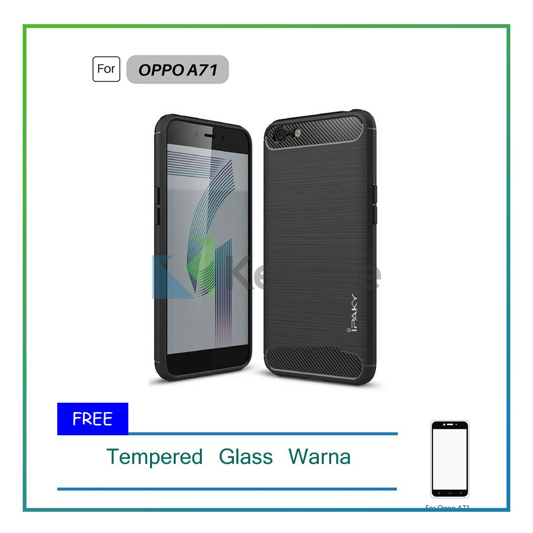 Free Tempered glass kacaIDR17000. Rp 17.000. Source · Rp 34.900. Case Super Premium Quality Carbon Shockproof Hybrid Case For OPPO A71 - Black