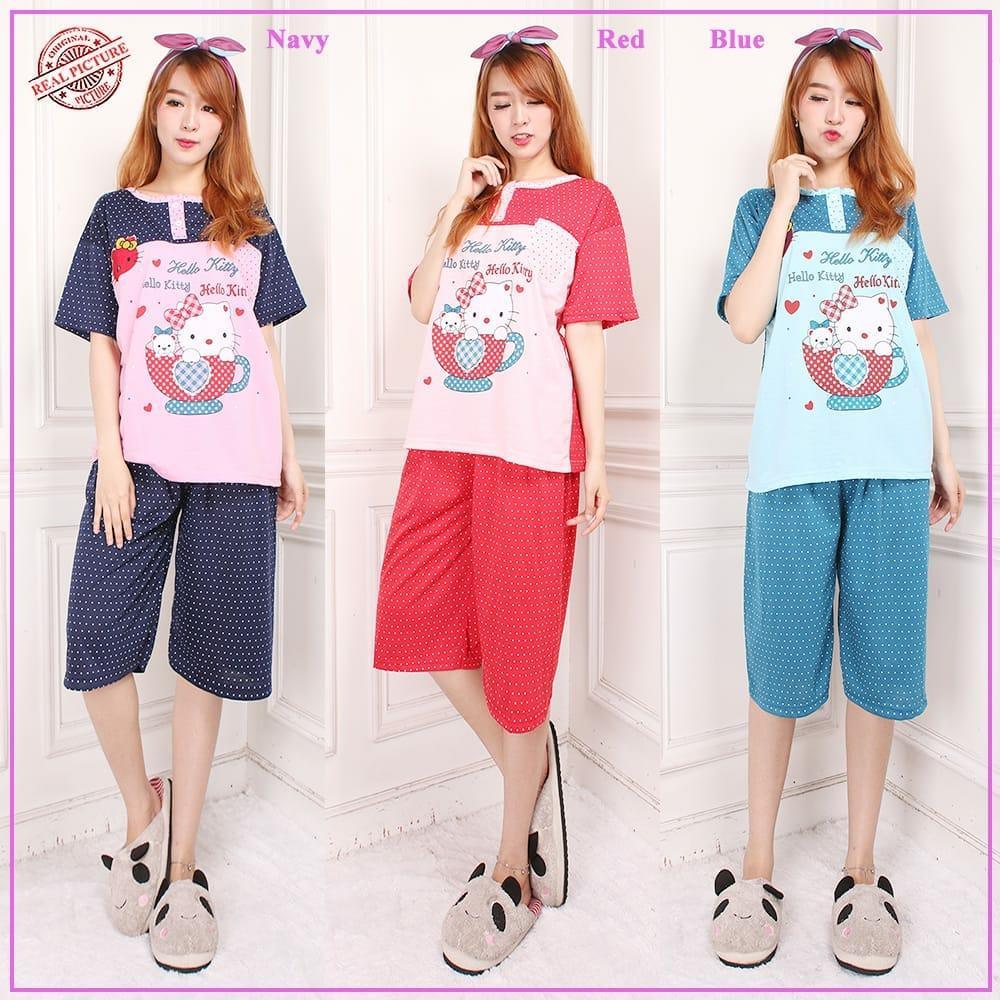 Kedaibaju Blouse Murah Atasan Wanita Kemeja Laptop Navy Spec Dan Baju  A330 Glow Fashion Stelan Tidur Jumbo Piyama Celana Pendek 7 8