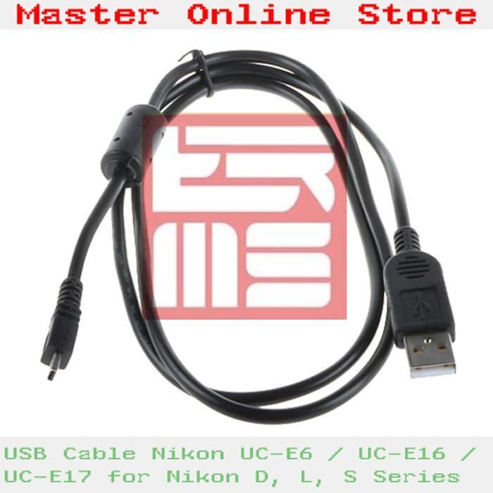 Promo USB Cable/ Kabel Data UC-E6 for Nikon Coolpix P & S Series Serta D5000 original