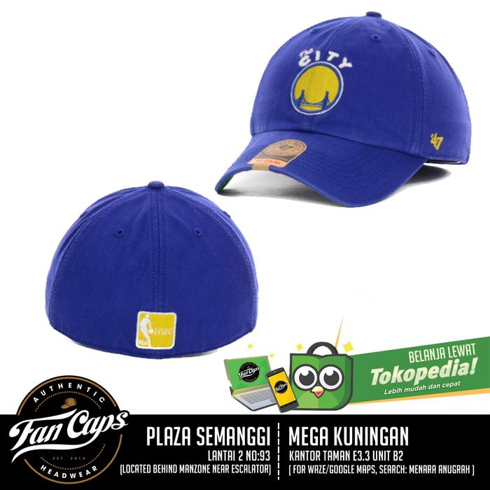 Hemat 10%!! Authentic Golden State Warriors Franchise Cap By 47 Brand (Size M) - ready stock