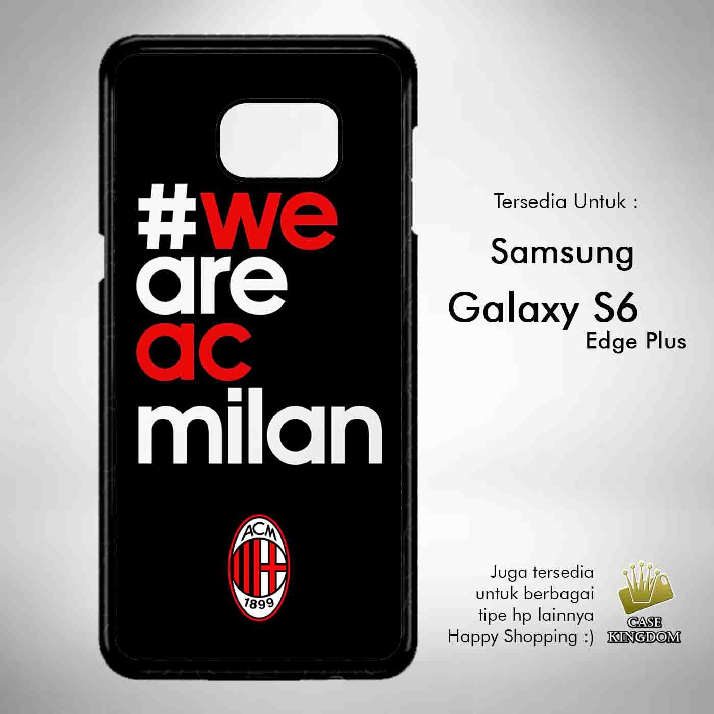 Ac Milan 5 Casing Custom Hardcase Samsung Galaxy S6 edge Plus Case Cover