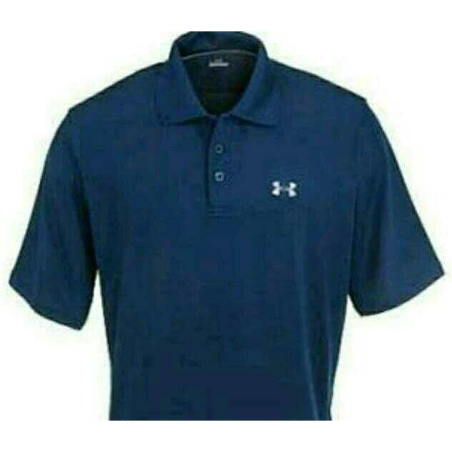 KAOS PRIA KAOS POLO SHIRT BIG SIZE XXXL UNDER ARMOUR NAVI -