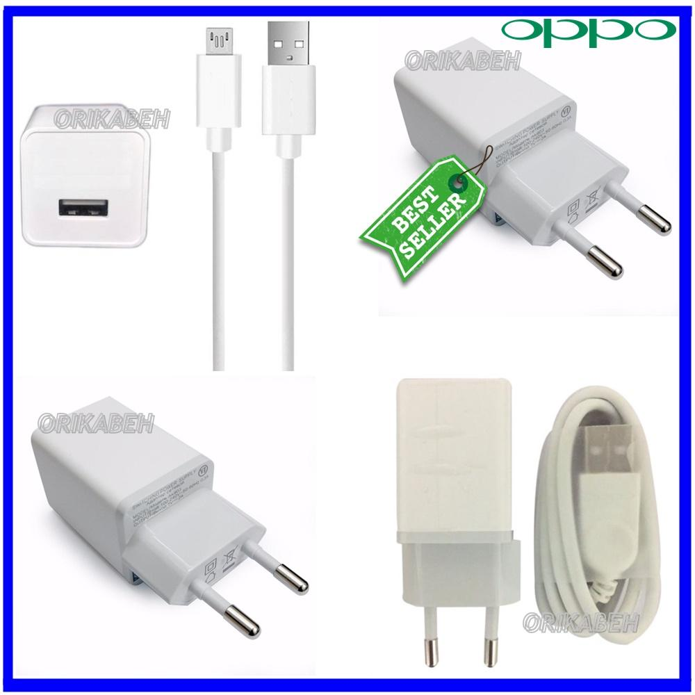 OPPO Travel Charger 2A Micro Usb Fast Charging - Charger Oppo F1S  F3plus F1 Plus A57 A39 A37 Neo 7 F5 Original ( orikabeh )