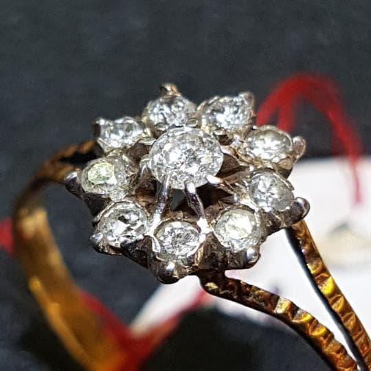 Cincin Emas 18k Berlian Eropa Asli Putih Tunangan Pernikahan Murah X21