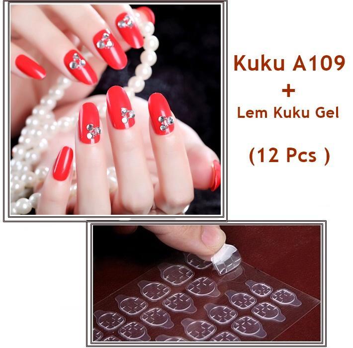 JBS Nails Kuku palsu Wedding Nail Art 3D Dan lem Kuku A109