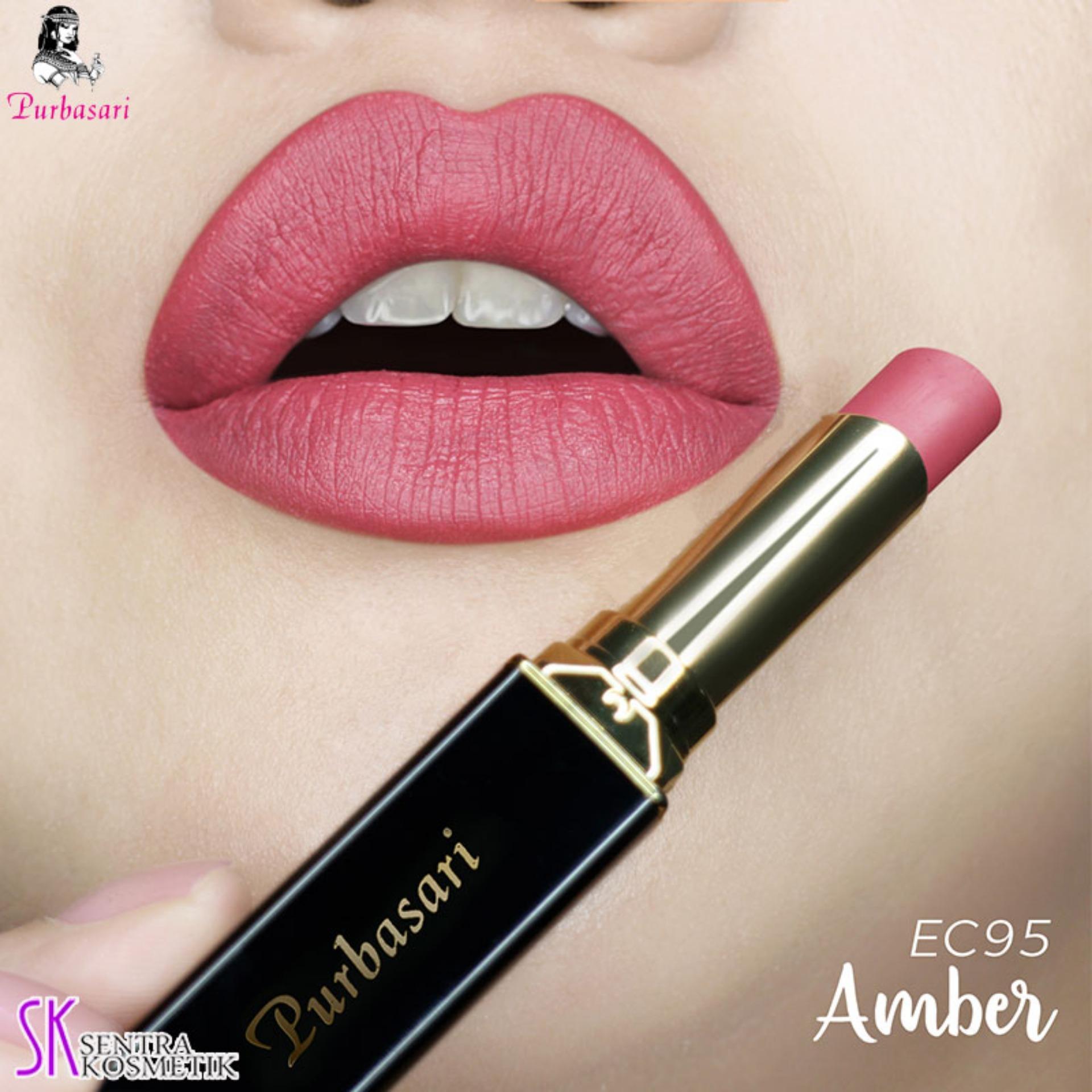 Purbasari Lipstick Collor Matte 95 AMBER