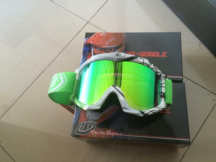 Hot Item!! Kacamata Cross Tld Warna Hijau Lensa Pelangi - ready stock