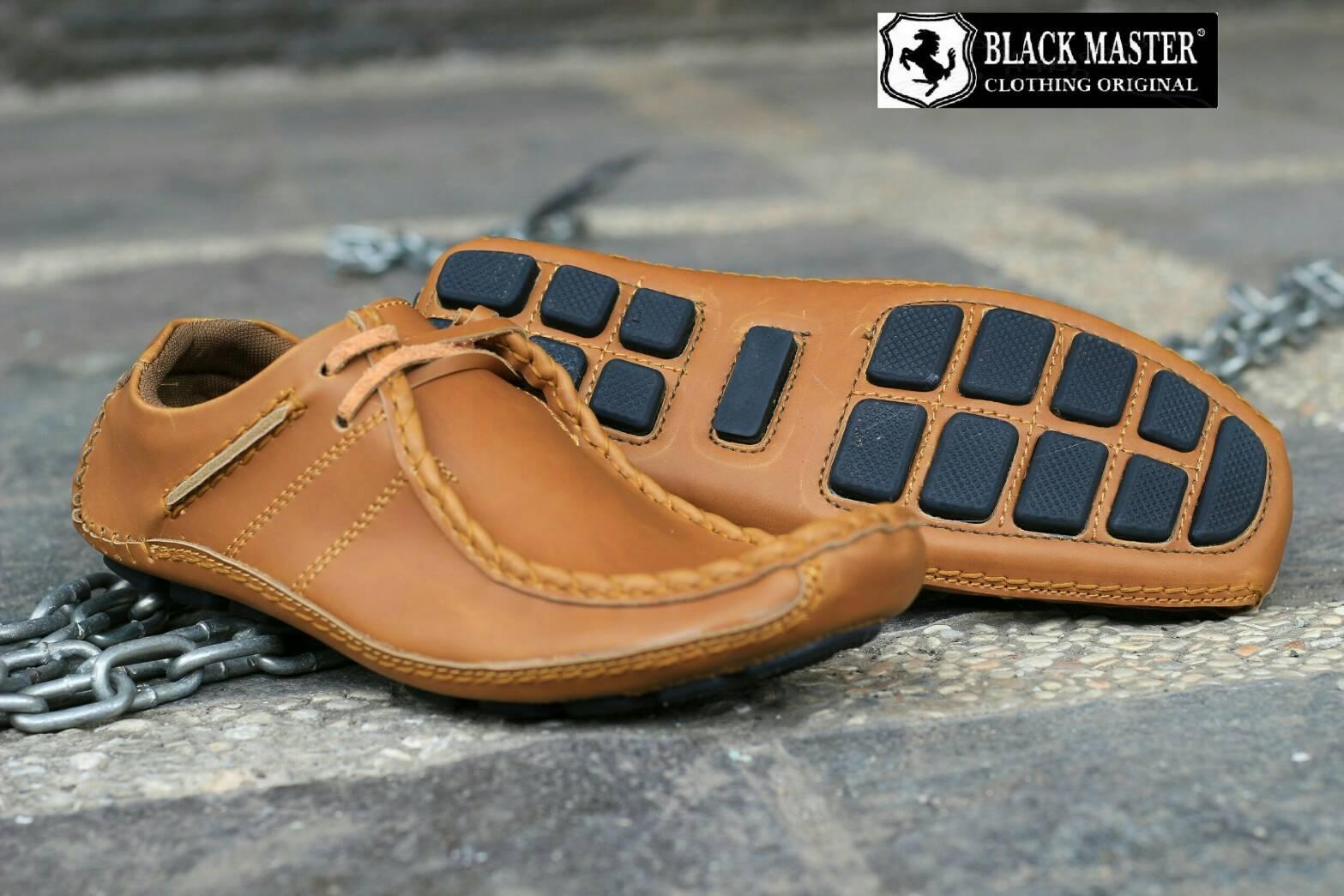 sepatu kulit pria casual semi formal pansus black master predator original a3fbaf3a13
