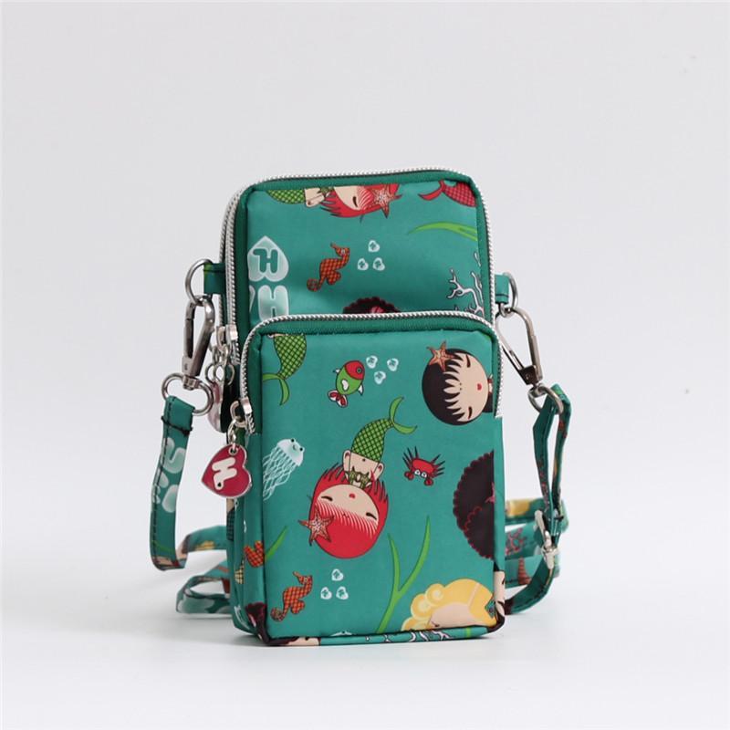 Selempang tas ponsel perempuan 2019 model baru Kartun musim panas tas bahu  dengan satu tali tas e70b051486