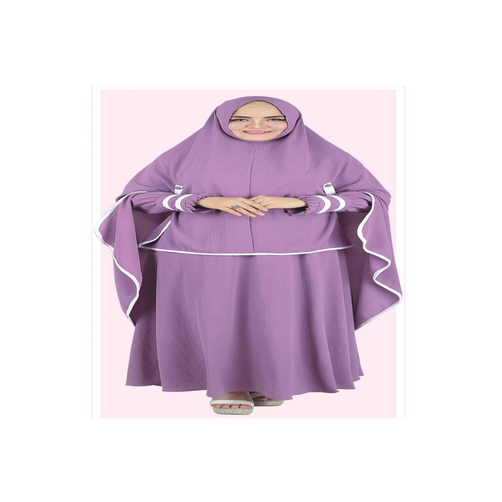 Baju Muslim Koko Pakistan Gamis Dress Setelan Wanita Pria Anak ungu