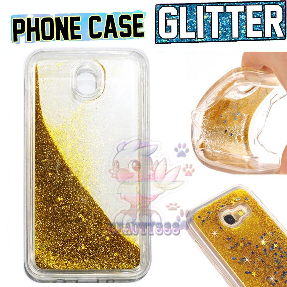 Beauty Case Samsung Galaxy J3 Pro 2017 J330 Softshell Dynamic Flowing Glitter Soft Back Case / Sillicone Samsung Galaxy J330 Blink Blink Gliter / Glitter Skin Case / Jelly case / Case Aquarium Samsung J3 Pro J330 / Ultrathin Water Glitter - Gold / Emas