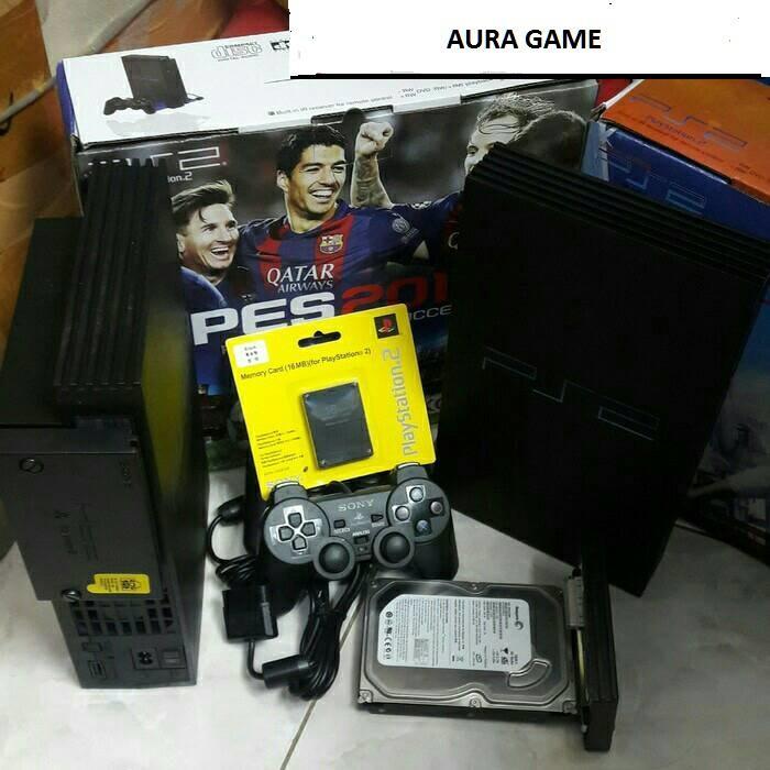 Playstation 2 SERI 30/50 fat hdd 160gb internal + 2 stik + free full game