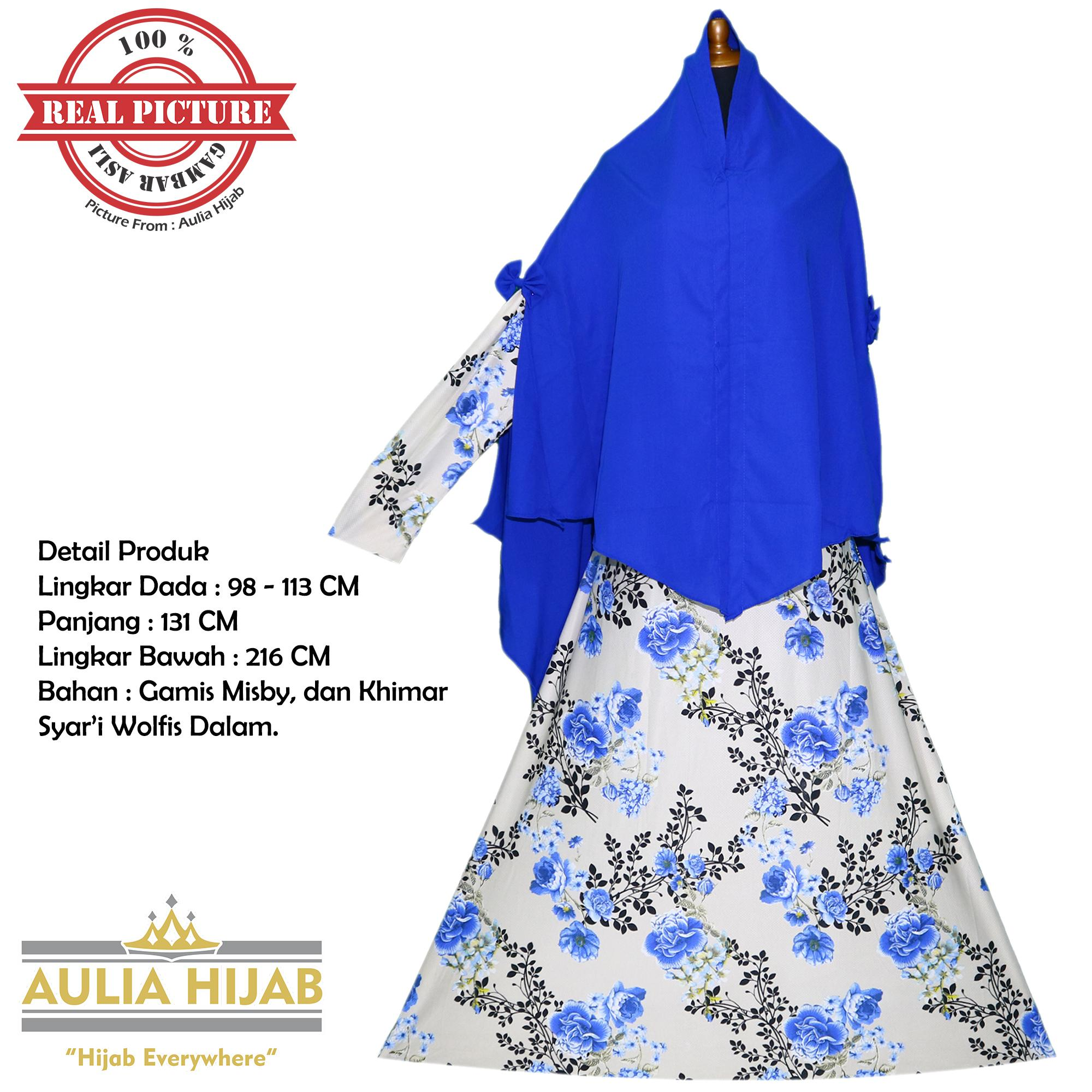 Aulia Hijab - New Queen Syar'i INCLUDE KHIMAR JUMBO/Gamis Syar'i/Gamis Misby/Gamis Wolfis/Gamis Las