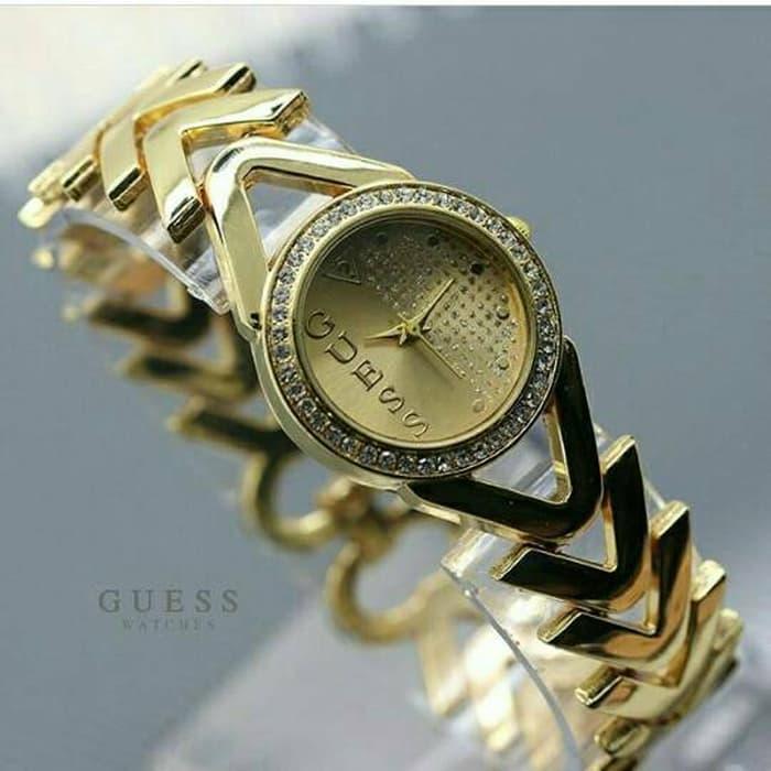 jam tangan guess wanita / jtr 806 gold