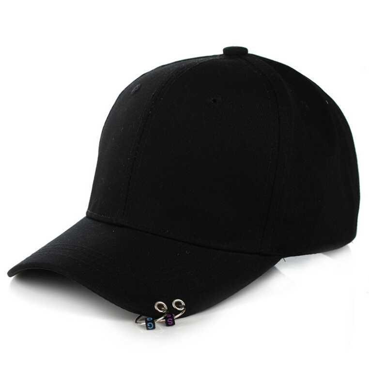 Ormano Topi Baseball Cool Piercing Design Snapback Pria Wanita Men Women  Fashion Accessories Unisex Dengan 2 Buah Ring Tindik Hat Cap Pelindung  Tudung Tutup ... fec3de80a8