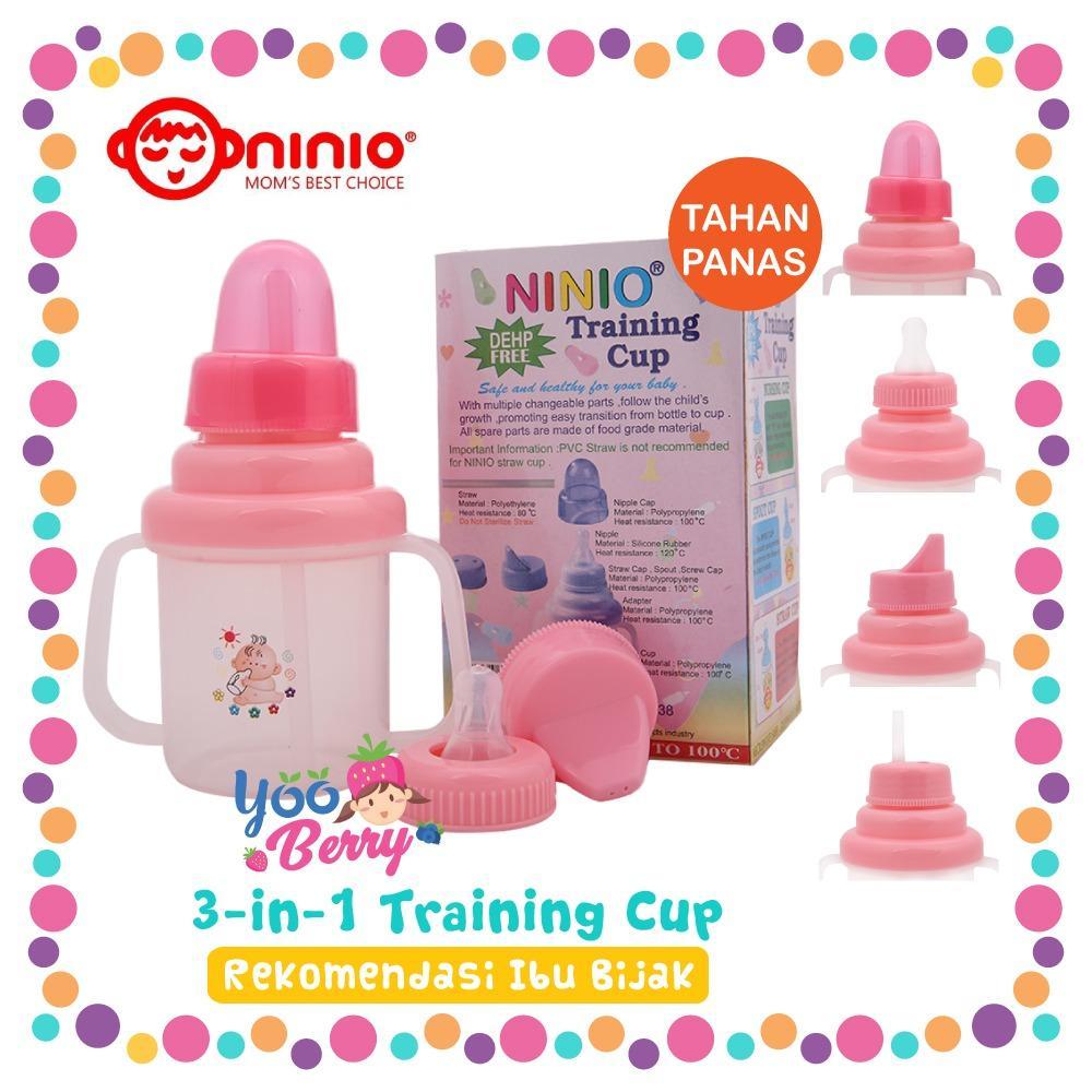 Cangkir Bayi Terlengkap Termurah Training Cup With Straw And Handle Ninio Botol Minum