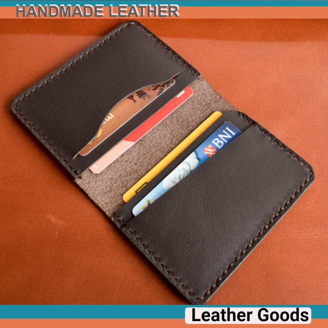 Dompet Kartu Nama Id Card Holder Genuine Leather Kulit Asli Original Import Handmade