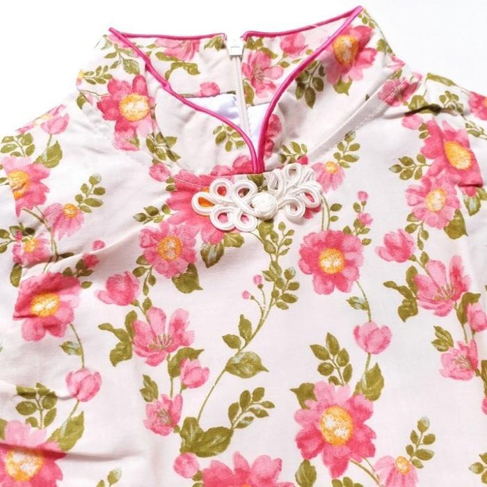 [ update terbaru ]  Baju Pesta Anak Perempuan Senshukei 26 Dress Tutu Cheongsam Bunga Pink