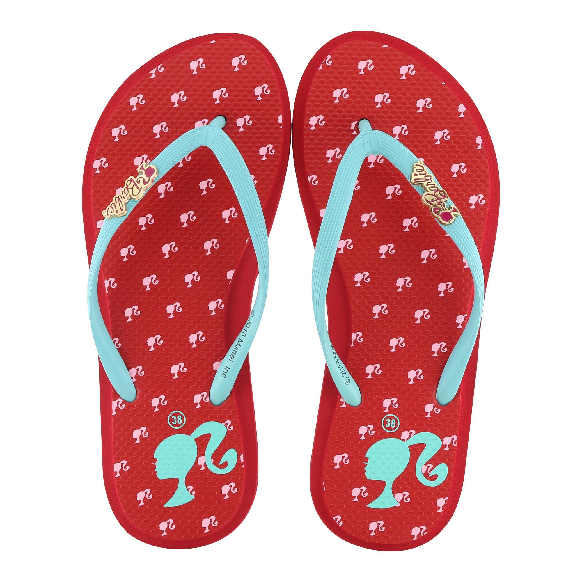 Ando Sandal Flip Flop Wanita Limited Edition Barbie022 [Merah]