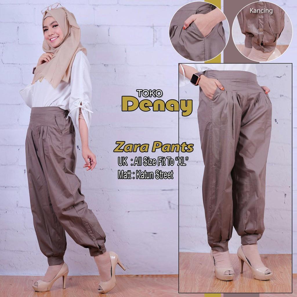 Celana Panjang Wanita Best Seller Basic ZHARA PANTS ( Joger Kancing ) Ori By Tokodenay