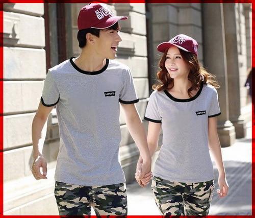 PROMO!!! [Cp T-Shirt Levis Abu CL] couple baju combet abu TERMURAH KEMEJA / HIJAB / KAOS / PASHMINA / MUKENA / SYARI
