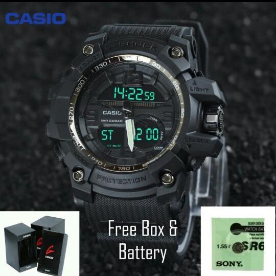Jam tangan casio sport G Shock water resist model baru ga 1100 tahan air 30M buat berenang sesuai gambar