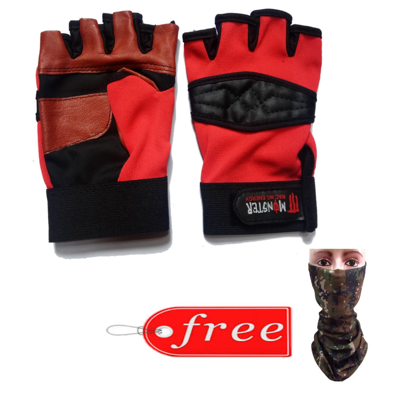 Jual Sarung Tangan Pria Kulit Asli Garut Half Protection Brown Best Seller Motor Dampal Free Buff Anti Debu