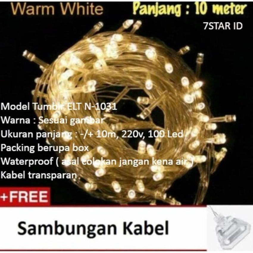 Lampu LED Tumblr ELT N-1031 7STAR Dekorasi Dan Hias Tumblr Natal Twinkle Light 10 Meter FULL + Ada Colokan Sambungan