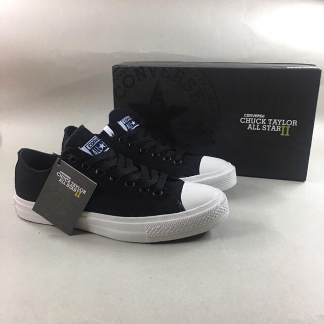 Sepatu Sneakers Pria Converse Allstar Chuck taylor II Black white Ox Original import Vietnam