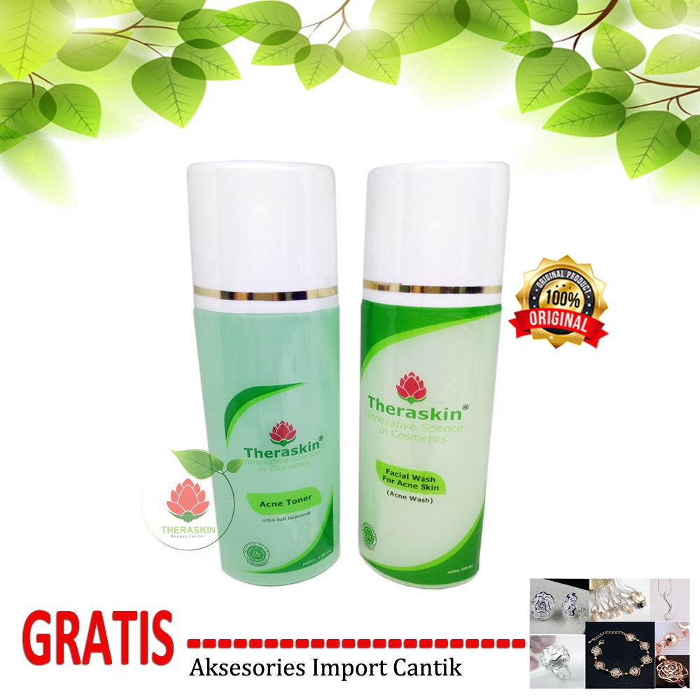 Buy Sell Cheapest Theraskin Acne Facial Best Quality Product Deals Original Paket Oily Beauty Center Wash Toner Gratis Aksesories Import Cantik