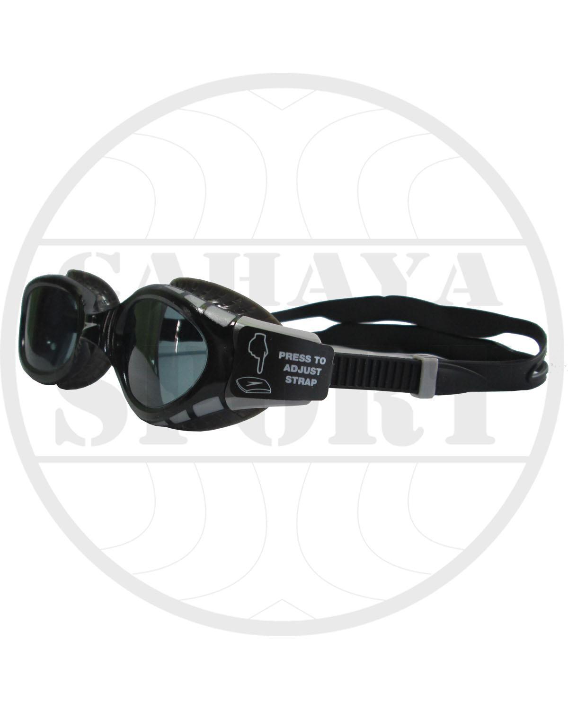 kacamata speedo original futura biofuse flexsial - hitam