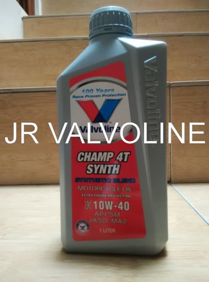 BEST SELLER !! OLI VALVOLINE CHAMP 4T SYNTH 10W40 1 LITER / AKSESORIS MOTOR / MOBIL / VARIASI / BERKUALITAS / OTO-A3167