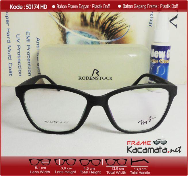 Frame Kacamata 50174 + Lensa minus/plus/silinder Kacamata Baca untuk pria & wanita