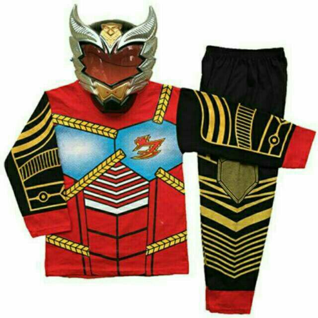 Setelan baju kostum bima x +topeng