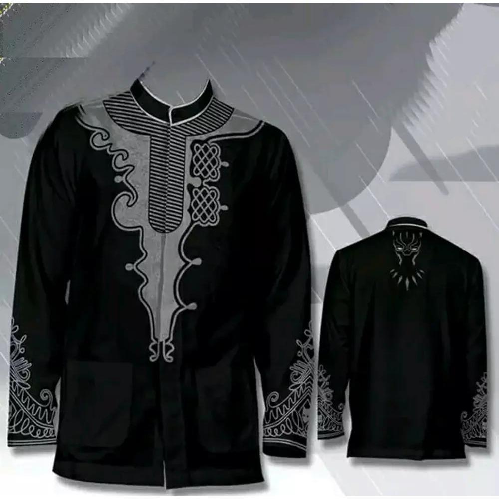 Baju Koko Black Panther | Baju Muslim | Baju Lebaran | Wakanda