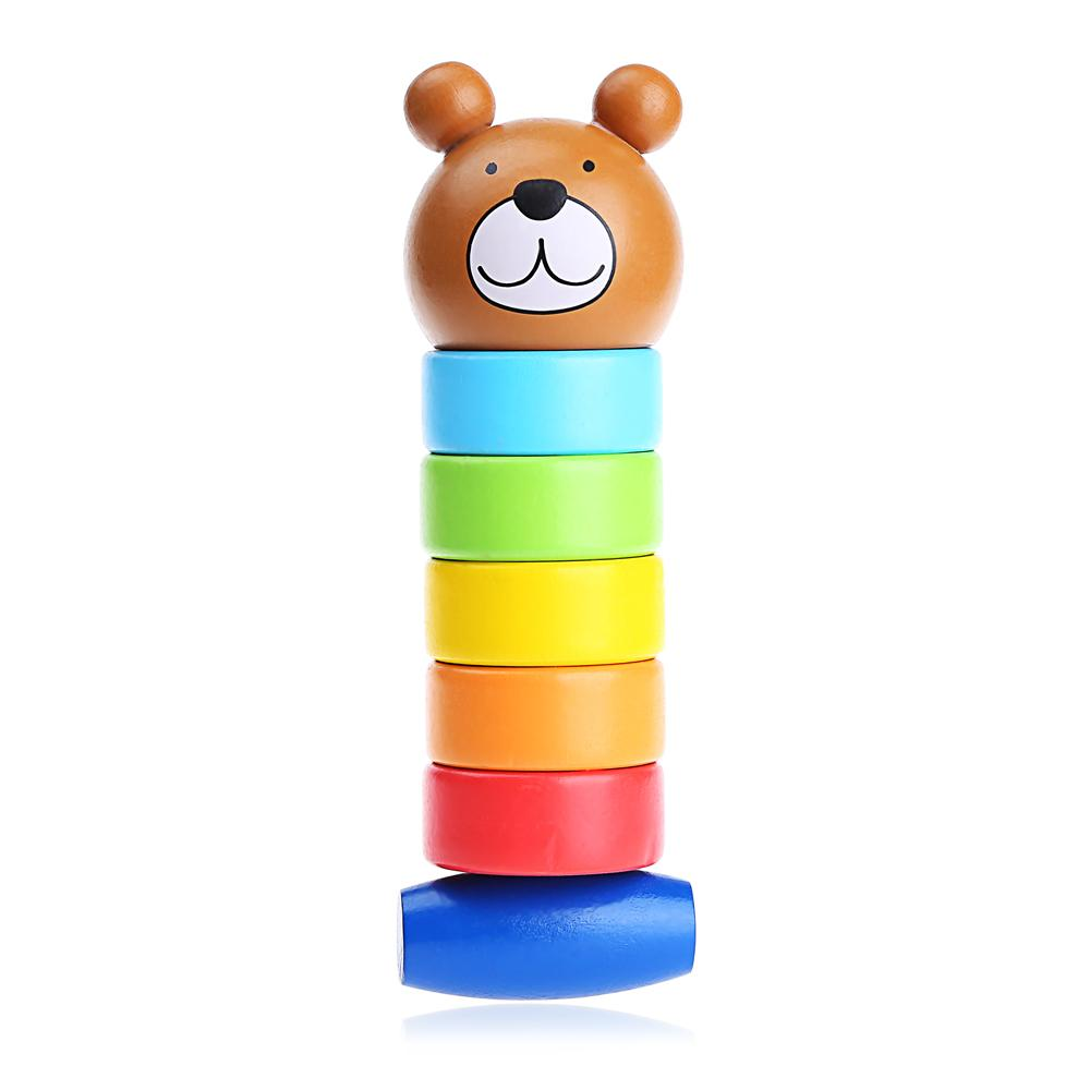 Buy Sell Cheapest Enlighten Menara Pelangi Best Quality Product Mainan Edukasi Kayu Wooden Rainbow Tower Ring Donat Oem Balok Beruang Mencolok Permainan Keseimbangan