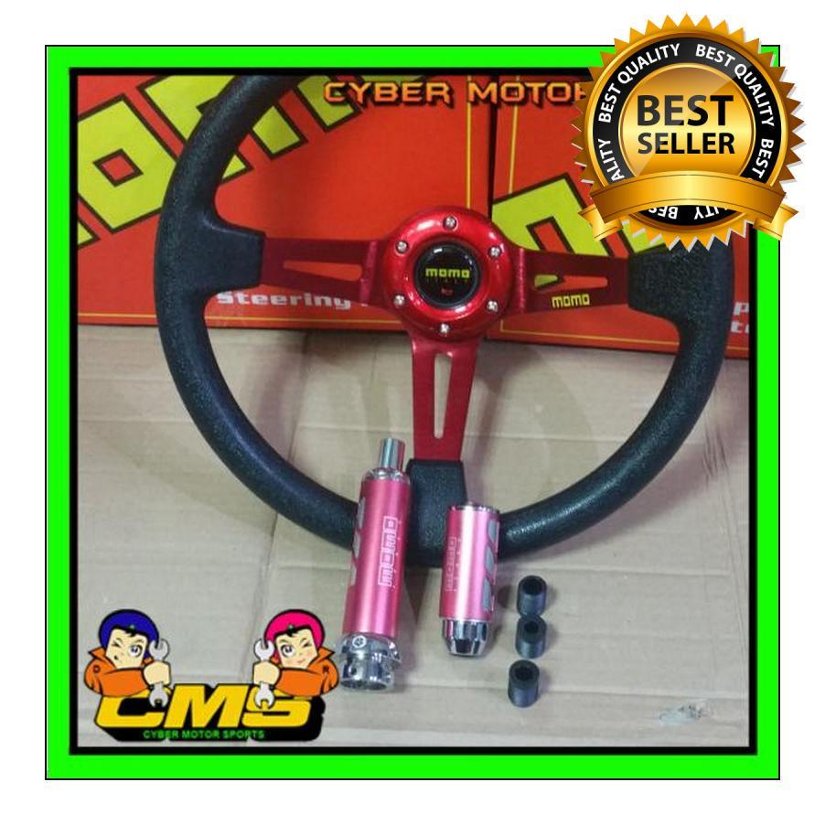 Paket interior momo universal. paket racing momo. stir racing momo. shiftknob racing momo. dll paket gaul c