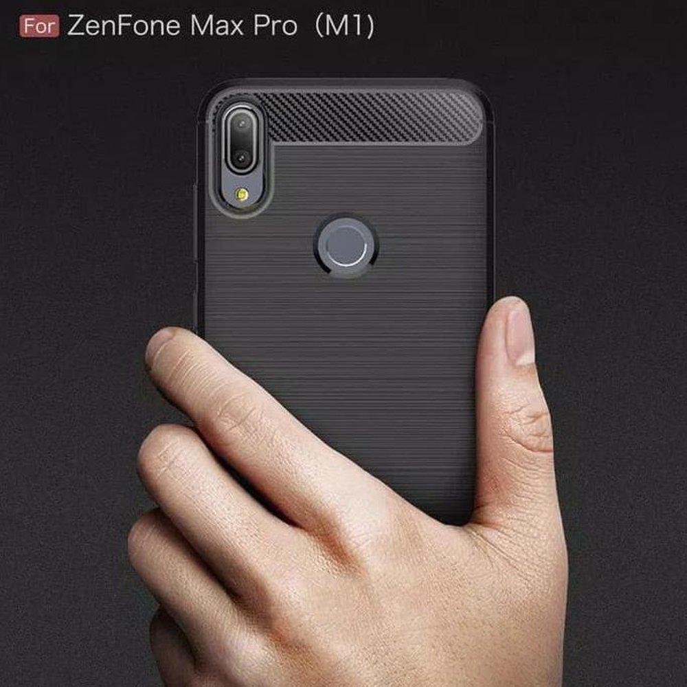case Asus Zenfone Max Pro M1 ZB602KL Delkin Slim Carbon Fiber Case Casing - Hitam