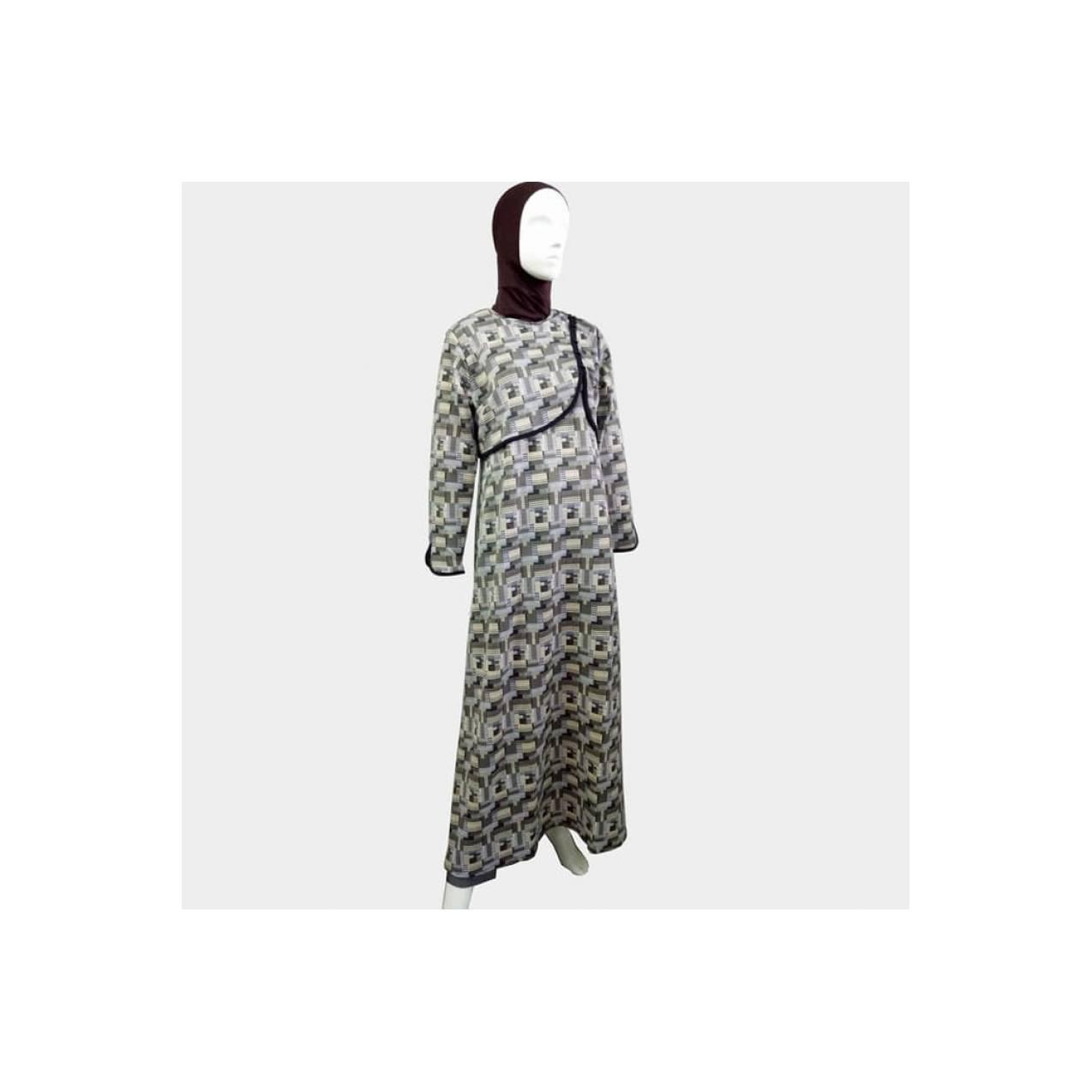 New Arrival Gamis Muslimah Dress Motif Cantik - Fadiya Dress Zoya