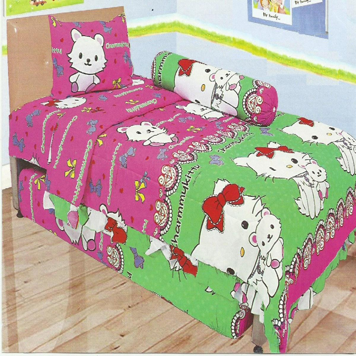 Buy Sell Cheapest Sprei Single Lady Best Quality Product Deals Fata Spiderman 120 Rose Small 100x200 Cm Motif Charmykitty