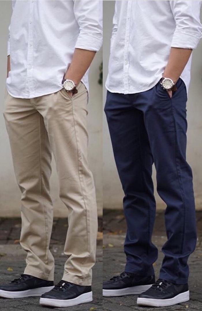 Chino Zara Man Basic Trousers Original