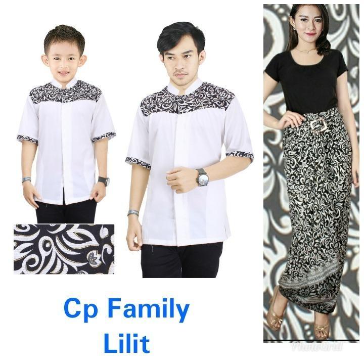 Miracle Couple Family Baju Muslim Neurman Koko Kemeja Anak Ayah Dan Rok Lilit Batik Maxi