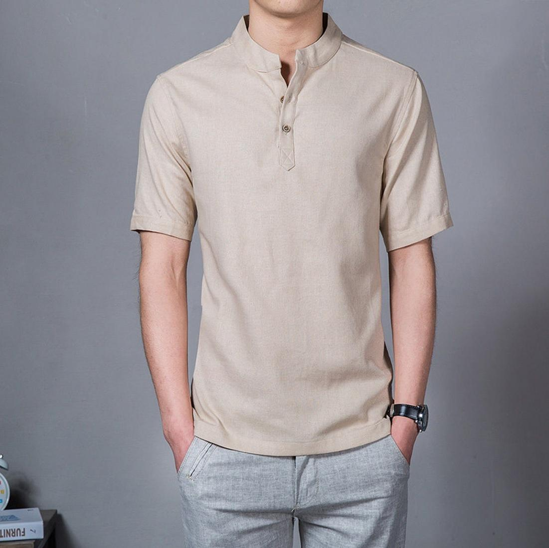 Baju koko Lazuardi Ternama Tangan Pendek Warna Cream Distro Bandung Fashion Pria Keren Terbaru Nyaman di Pakai Simple Eleghan Tersedia 8 warna DISKON