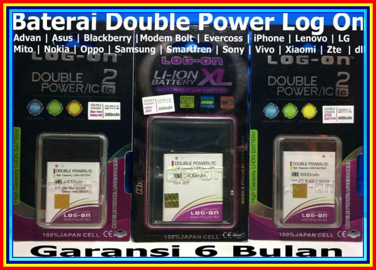 Baterai Log On Advan S4M S4K Bp-40Aa Batre Original Double Power